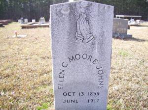 Ellen Moore's Grave in Paulding Co., Georgia, courtesy of FindAGrave.com