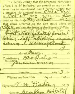 Xaver Schillinger Death Certificate Annotation 7