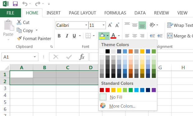 Excel Fill Option